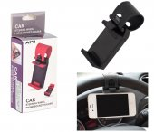 Car Holder Cradle Steering Wheel Strap Mount for mobile phone, iPhone, Samsung, LG, Sony, black - mašīnas stūra turētājs mobilajam telefonam