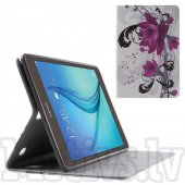 Samsung Galaxy Tab A 9.7 T550 T555 PU Leather Case Cover Stand, lotus flower - vāks apvalks pārvalks maks