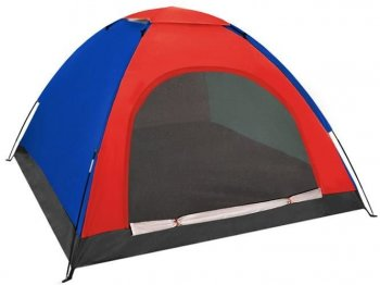 Travel Tourism Tent (190x190x123 cm) 4 persons, Mix Color