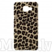 Samsung Galaxy A5 2016 SM-A510F Duos Leopard Fur Leather Coated Hard Plastic Case Shell Cover – aksesuārs vāks maks