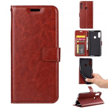 Maciņš vaciņš apvalks priekš Huawei P Smart Plus 2019 | Leather Wallet Case for Huawei P Smart Plus 2019 – Brown