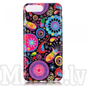 "Apple iPhone 7 Plus 5.5"" TPU Back Case Patterned Cover, Paisley Pattern - puscietais maciņš vāciņš"
