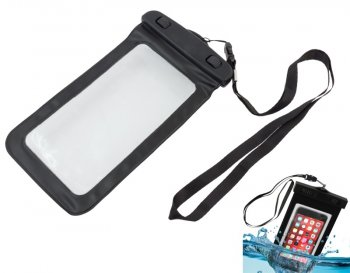 "Waterproof Bag Case for phone up to 6"" 165 x 95mm 