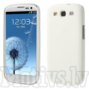 Samsung Galaxy S3 SIII i9300 i9305 Rubberized Shell Bumper Case Cover, white - aksesuārs vāks bamperis
