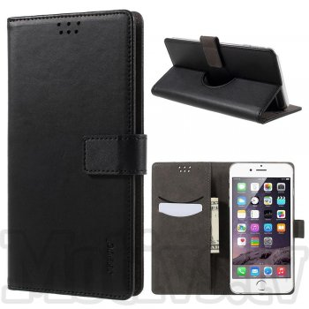 "Universal 5"" inch PU Leather Wallet Phone Case Cover Stand, black - universālais maks vaks"