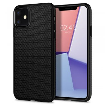Apple iPhone 11 Spigen Liquid Air TPU Case, black | Обложка бампер