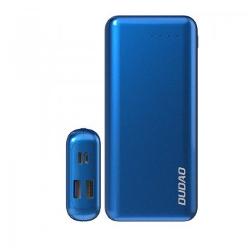 Dudao 2x USB Power Bank 20000mAh PD + QC4.0 (3,7A, 45W), Blue | Ārējais Portatīvais Akumulators