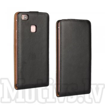 "Huawei P9 Lite 5.2"" Vertical Flip Split Leather Cover Case - Black"