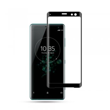 Mocolo Full Coverage Tempered Glass Screen Protector for Sony Xperia XZ3 0.3mm 9H black - ekrāna aizsargstikls, protektors