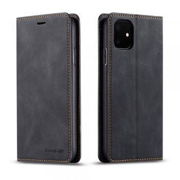 Apple iPhone 11 Silky Touch Leather Wallet Case, Black | Чехол для телефона