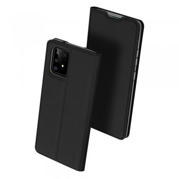 Samsung Galaxy S10 Lite (SM-G770F) DUX DUCIS Skin Pro Series PU Leather Wallet Case Cover, Black | Vāciņš maciņš apvalks