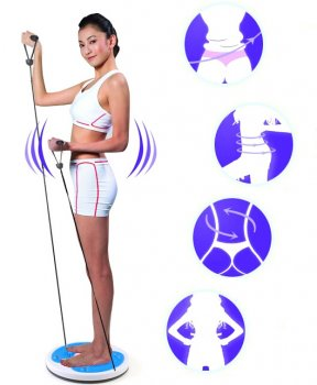 Rotary Twister Disc with Resistance Bands Expanders Slim Waist Finess Gear Foot Massage