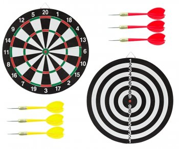 Darts Game Throwing Small Missiles to Target (Reversible)