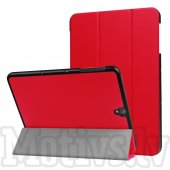 "Samsung Galaxy Tab S3 9.7"" SM-T820 T825 Tri-fold Stand Smart Leather Case Cover, red - vāks apvalks pārvalks"