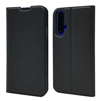 Huawei Honor 20 / 20s / Nova 5T Magnetic Adsorption PU Leather Wallet Case Cover, Black | Telefona vāciņš maciņš