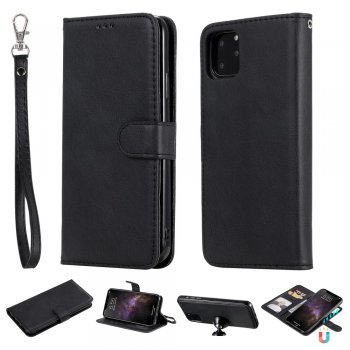 Apple iPhone 11 Pro Max PU Leather Case Cover, Black