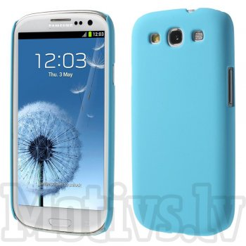 Samsung Galaxy S3 SIII i9300 i9305 Rubberized Shell Bumper Case Cover, light blue - aksesuārs vāks bamperis