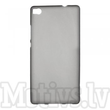 "Huawei Ascend P8 5.2"" Frosted TPU Gel Case Bumper Cover, grey - aksesuārs vāks bamperis"