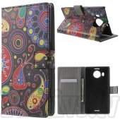 Microsoft Lumia 950 XL Colorize! Leather Wallet Stand Case Cover, dark galaxy – vāks maks
