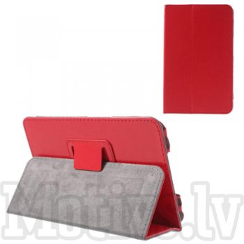 Lenovo IdeaTab A1000 Crazy Horse Leather Stand Case Cover, red - vāks apvalks pārvalks maks