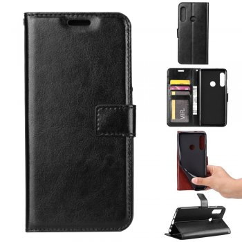 Huawei P Smart Z / Y9 Prime 2019 - Māciņš vaciņš apvalks | PU Leather Wallet Case Cover, Black