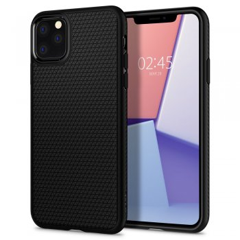 Apple iPhone 11 Pro Spigen Liquid Air TPU Gel Case Bumper Cover, black - vāks bamperis