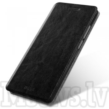 Huawei Nova CAN-L01 L11 MOFI Rui Leather Book Case Cover Stand, black - maks vāciņš
