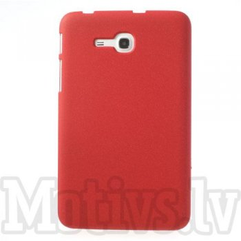 Samsung Galaxy Tab 3 7.0 Lite T110 T111 T113 Tab 3 V T116 Quicksand Hard Plastic Case, red - vāks apvalks bamperis