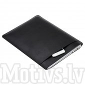 "Macbook Air Pro 13"" PU Leather Sleeve Bag Pouch for 13"" Laptops, Size: 343 x 249 mm, black - datorapvalks"