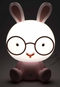 "Decorative Night Lamp ""Rabbit"", Pink"