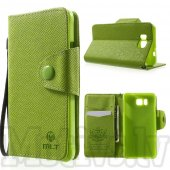 Samsung Galaxy Alpha G850F G850A S801 MLT Wallet Leather Stand Cover, green - aksesuārs vāks maks