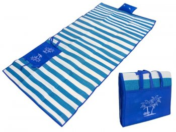 Beach Folding Blanket + Pillow + Bag Set, Blue