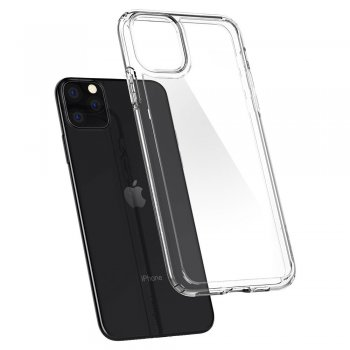Apple iPhone 11 Pro Spigen Ultra Hybrid TPU Case, black | Vāks bamperis, Melns