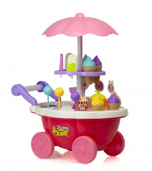 Rotaļu Saldumu un saldējuma veikals ar LED gaismām un mūziku | Sweet Shop and Ice Cream Playset with LED Lights and Music