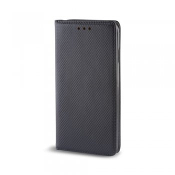 Motorola One Vision / P50 Magnet TPU Book Case Cover Wallet, Black
