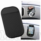 Small Multi-Function Silicone Anti-Slip Mat NanoPad Cellphone Holder, size 125mm x 65mm, black - neslīdošs paklājiņš