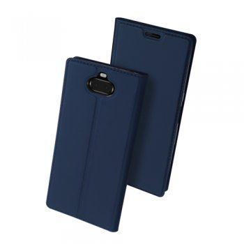 Sony Xperia 10 Plus (I3213, I4213, I4293, I3223) DUX DUCIS Skin Pro Leather Folio Magnetic Case Cover Stand, blue – vāks maks