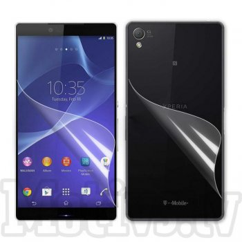 Screen Protector Front and Back for Sony Xperia Z3 D6603 D6643 D6653 D6616 L55t, transparent clear guard - ekrāna aizsargplēve, protektors