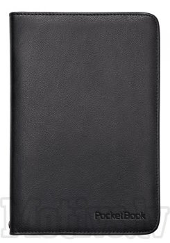 "Pocketbook 6"" Touch Lux 3 614, 615, 624, 625, 626, 631, 641 original case cover, black - melns vāks"