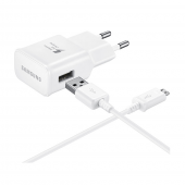 Samsung USB 2A Quick Fast Charge lādētājs ar micro USB vadu (USB Wall 220V Charger with Cable (EP-TA20EWE))