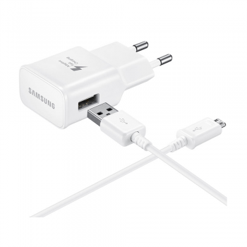 Samsung USB 2A Quick Charge зарядка с проводои micro USB (USB Wall 220V Charger with Cable)
