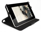 Gecko Acer Iconia Tab B1-710 leather case cover, black - pārvalks apvalks maks vāks – melns
