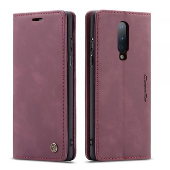 OnePlus 8 CASEME PU Leather Wallet Case Cover, Wine Red | Чехол-Книжка, Чёрный