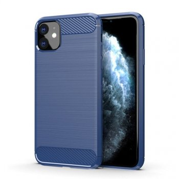 Apple Iphone 11 Carbon Fiber TPU Case - Blue | Чехол для телефона