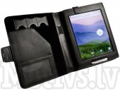 Tuff-luv Faux leather case Folio cover for Pocketbook IQ 701 Book Style - Black
