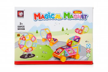Magical Magnet Blocks Bricks Educational Building Toy 68 pcs | Mini Magical Magnet