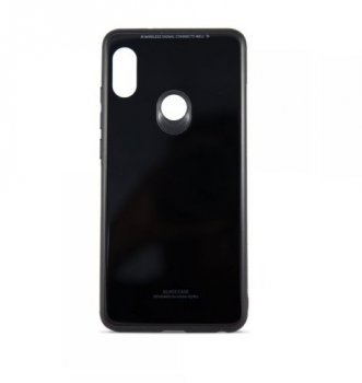 Xiaomi Redmi Note 5 AI / Pro Glass Case Hybrid TPU+PC Case Cover, black