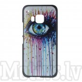 HTC One M9 Hima Embossed Hard PC Plastic Case, the eye - aksesuārs vāks bamperis