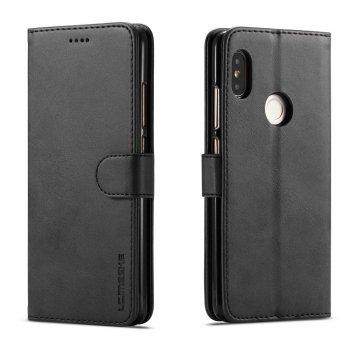 Xiaomi Redmi Note 5 AI / Pro Leather Book Case - Black