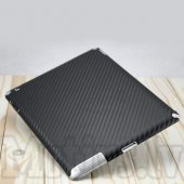 Back Cover Sticker Protector Film for Apple iPad 2 3 4 Retina, carbon fiber black – aizmugurējā uzlīme aizsargplēve planšetdatoram